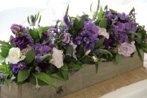 Rustic wooden floral trough auckland hire