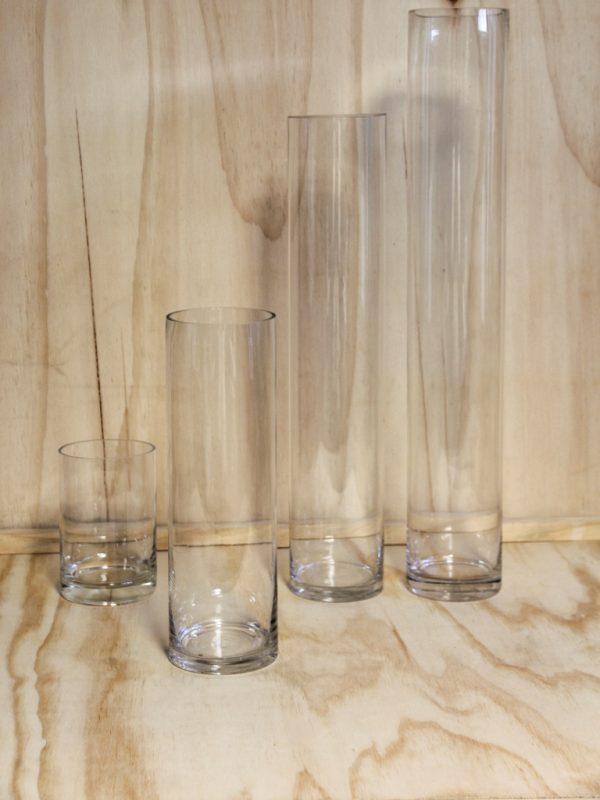 Glass Cylindar Vase Medium, Wedding Hire Auckland