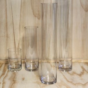 Glass Cylindar Vase Tall, Wedding Hire Auckland