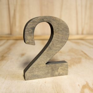 Wooden Table Number Rustic, Wedding Hire Auckland