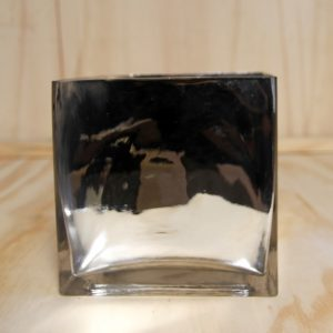 Glass Cube Vase Mirror, Wedding Hire Auckland