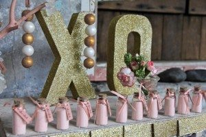 Gold Glitter 'XO' Letters auckland hire