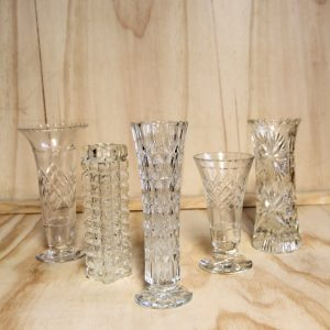Cut Glass Vases Medium, Wedding Hire Auckland