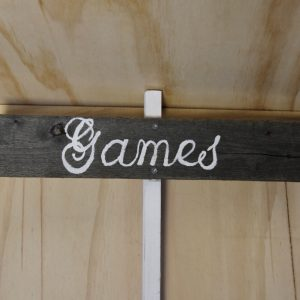 Rustic Wooden Sign Games, Auckland Wedding Hire
