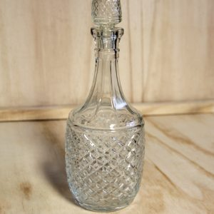 Cut Glass Decanter Round, Wedding Hire Auckland