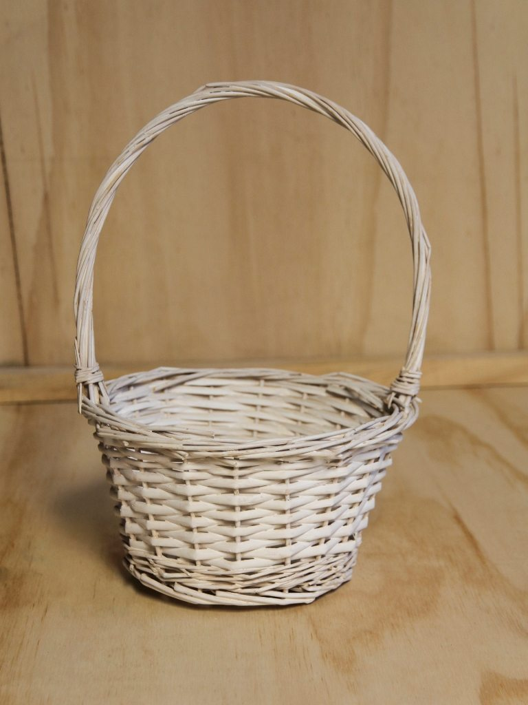 Flower Girl Basket White Wedding Hire Envy Events