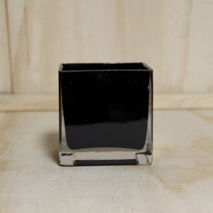 Glass Cube Black Small for wedding hire auckland