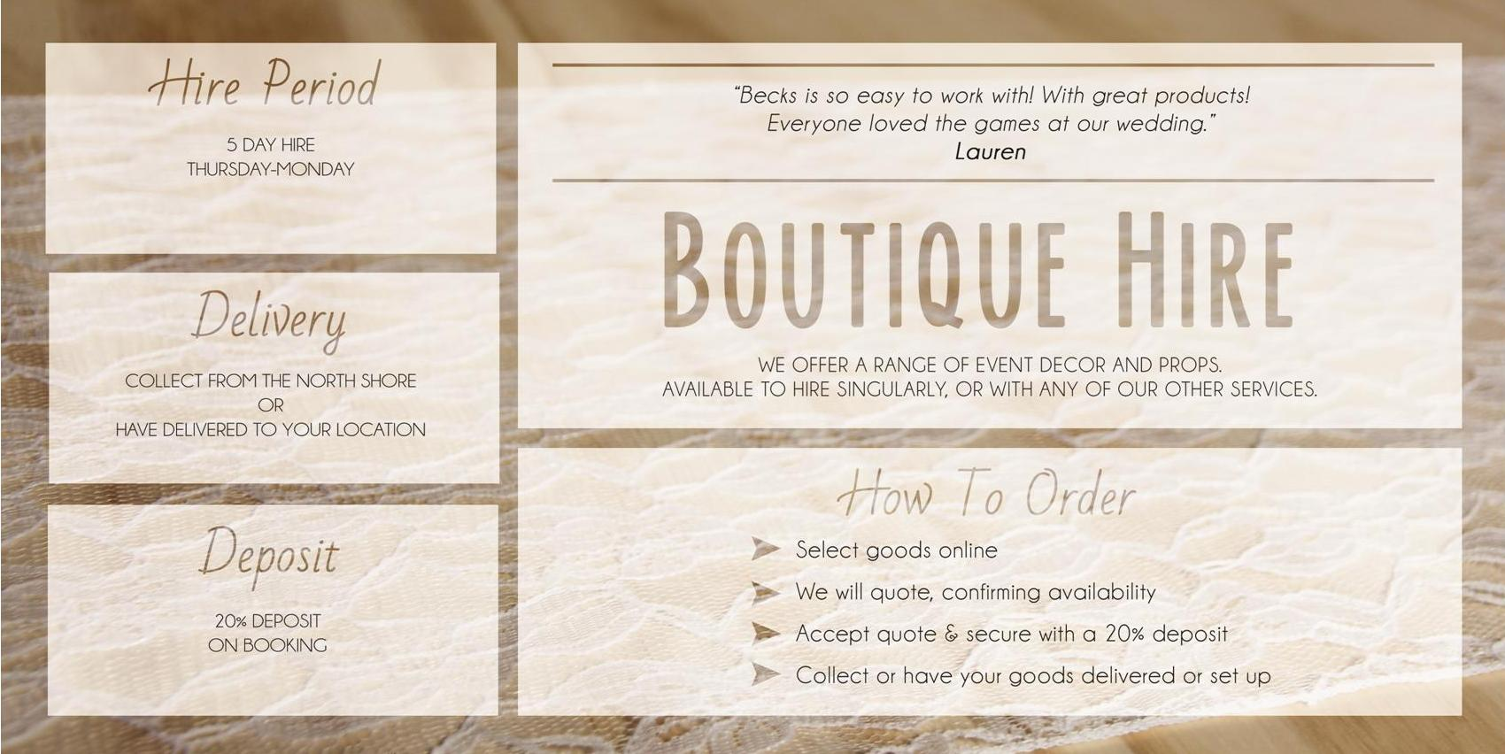 Boutique Hire